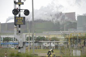Thyssen-Krupp Stahlwerk in der Bucht von Sepetiba bei Rio de Janeiro, aufgenommen am 31.10.13 Foto: Thomas Lohnes / Brot fuer die Welt