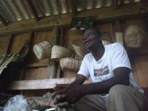 Alcides Alves Jorge, presidente da associação de moradores do Quilombo Cambury
