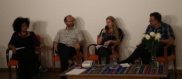 Bianca Santana, Gerhard Dilger, Rosa Asendorpf e Christian Dunker, no debate
